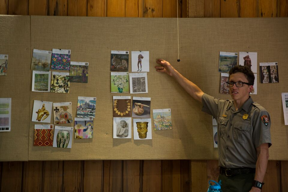 A park ranger makes a presentation